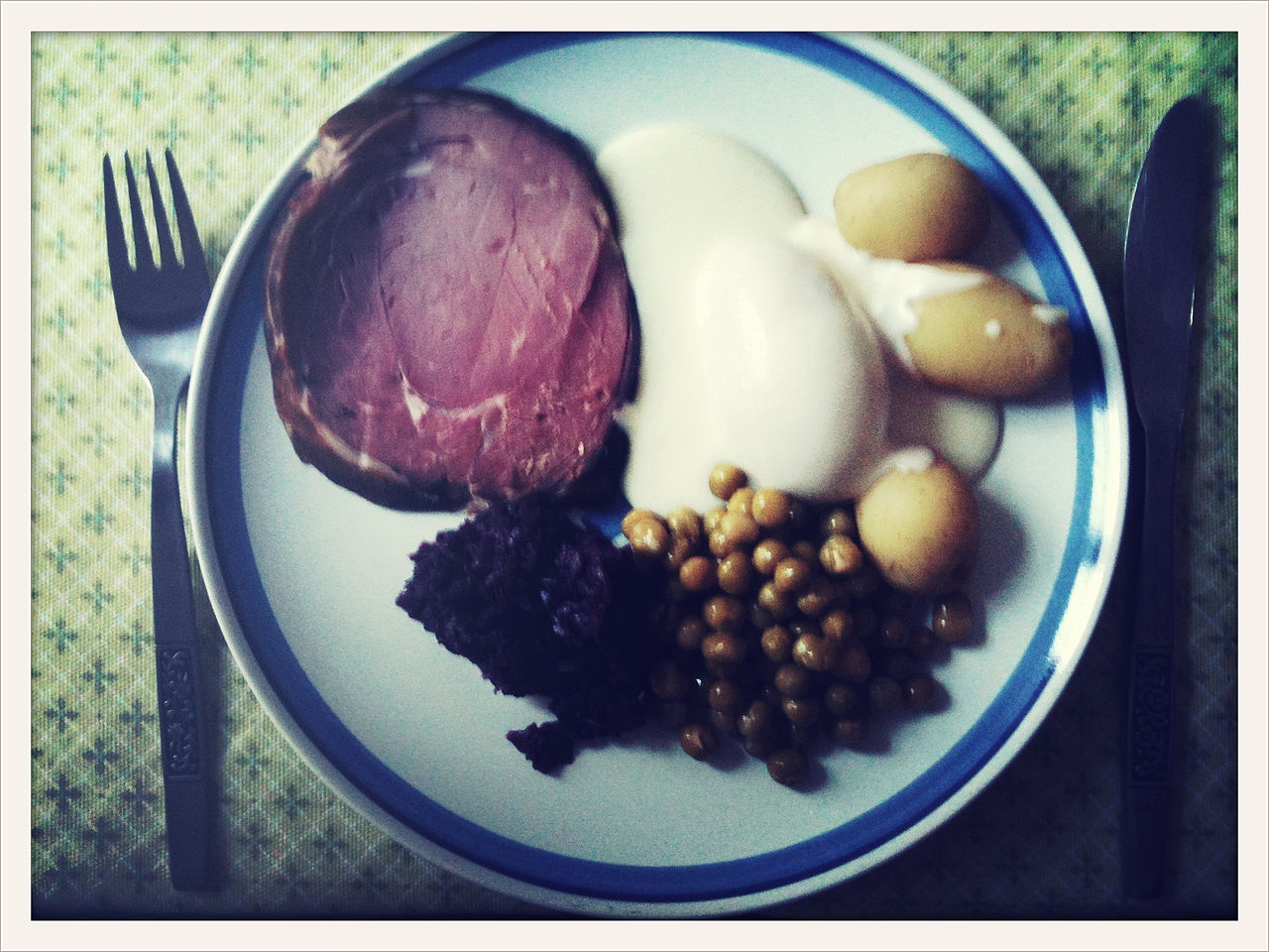 Icelandic christmas food - smoked lamb
