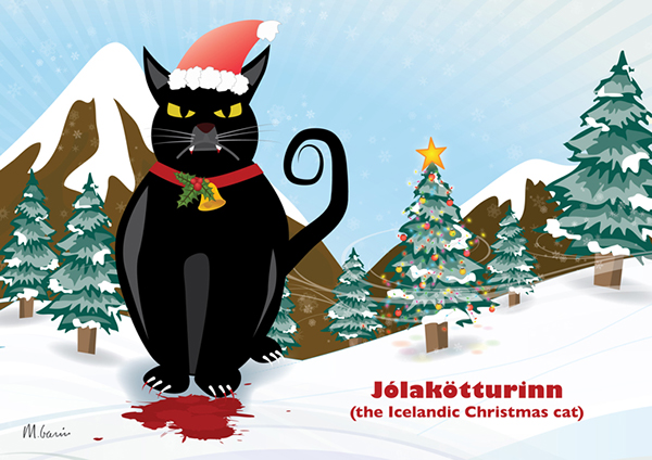 Icelandic christmas cat