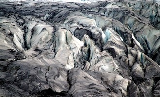 glacier ice in Iceland