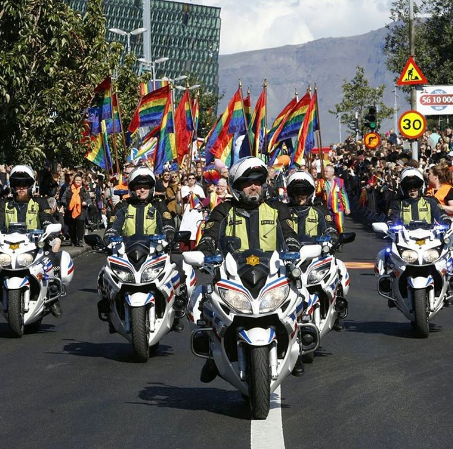 icelandic cops on gay pride in Iceland