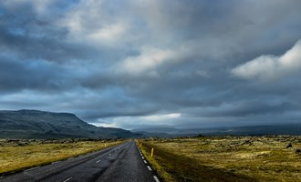 Icelanders drive on the right side of the road.