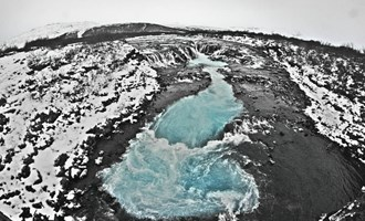 river in Icelandic winter